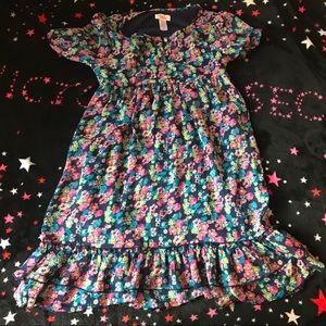 Justice dress with flowers